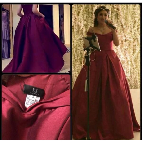 فستان سهرة - ايمان السحيم